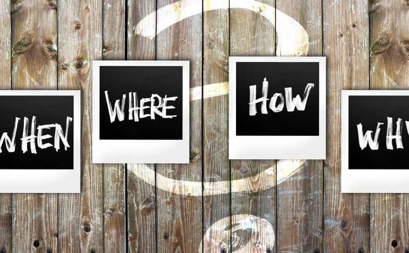 BLOGGING: and the question,WHY?
